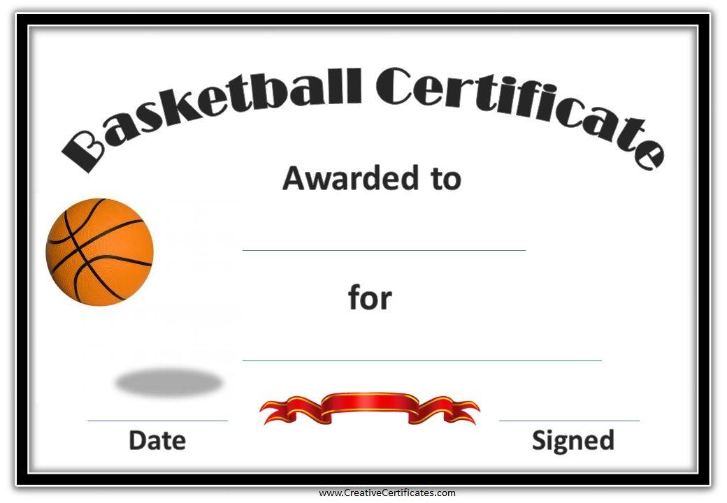 Basketball Mvp Certificate Template Erieairfair