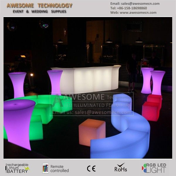 Led Event Furniture Party Hire Glow View Al Awesome Product Details From Shenzhen Technology Co