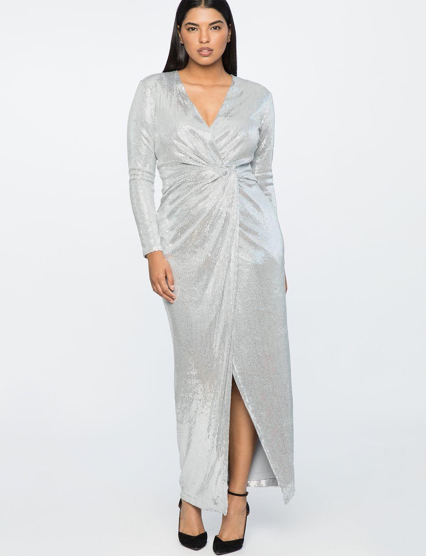 Jason Wu X ELOQUII Sequin Wrap Gown   Women s Plus Size Dresses ... a888207a8435