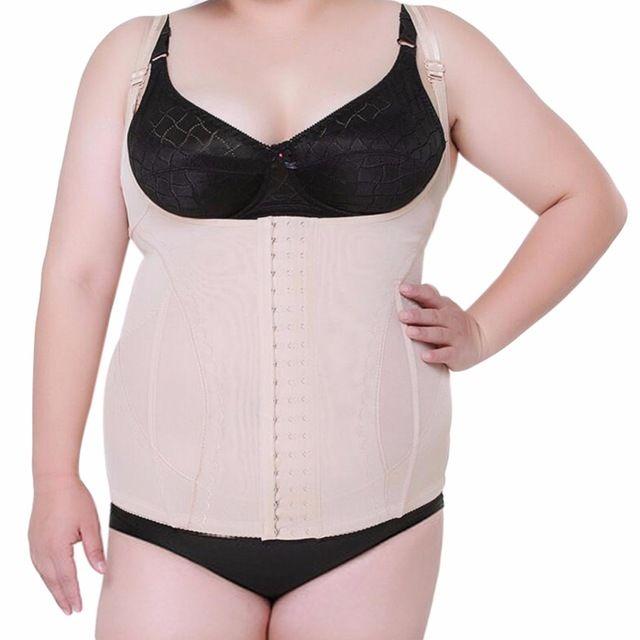 f82049e1c Large Plus Size Women s Shaper Tops Underbust Corset Waist Trainer Corset  Cincher Body Shaper Vest Belt Tummy Slimming Shapewear