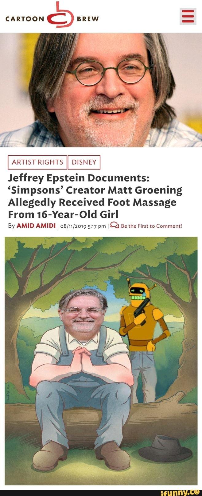 ARTIST RIGHTS Jeffrey Epstein Documents 'Simpsons