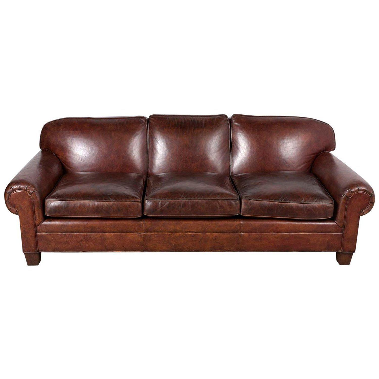 Restored Ralph Lauren Leather Sofa Leather Sofa Ralph Lauren