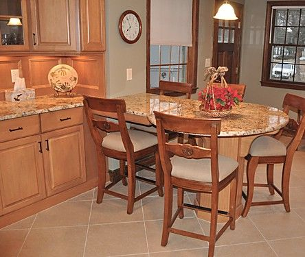 A True Custom Eat In Area To Match All Of The Cabinetry. Designed By