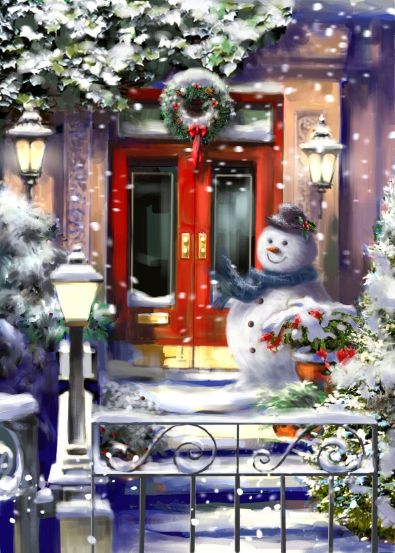 Christmas Doorway | Drawn to better | Astound.us