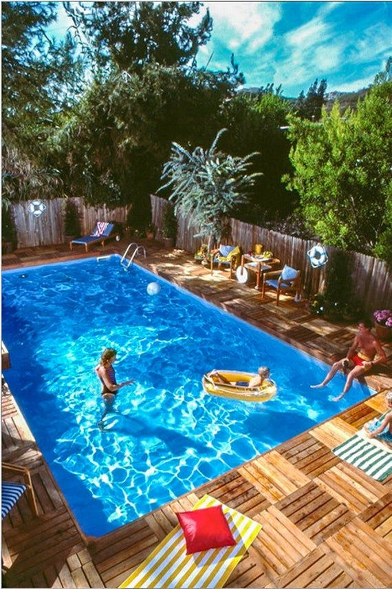 Swimming Pool And Deck Plans By Stevenson Projects Diy In Ground Pool Build Your Own Swimming Pool And Deck In 2020 Swimming Pools Backyard Swimming Pool Decks Backyard Pool