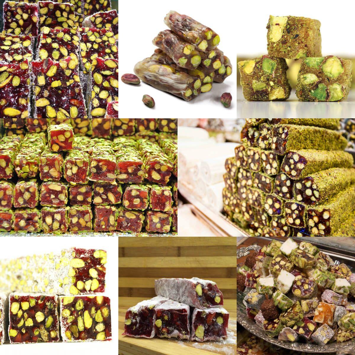 عالم الطبخ والجمال طريقة عمل راحة الحلقوم التركي بالفستق الحلبي Pistachio Turkish Delight Turkish Recipes