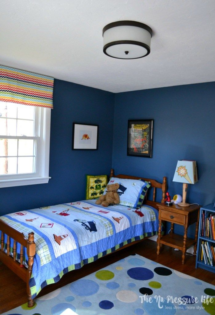Blue Bedroom Designs: Before & After: An Eclectic Boy's Bedroom Makeover With