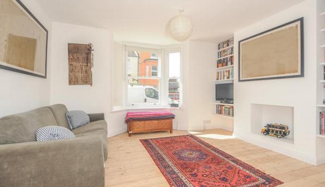 Renovated Living Room Front Two Rooms Knocked Together In An Oxford Terrace On Hurst Street From Rightmove