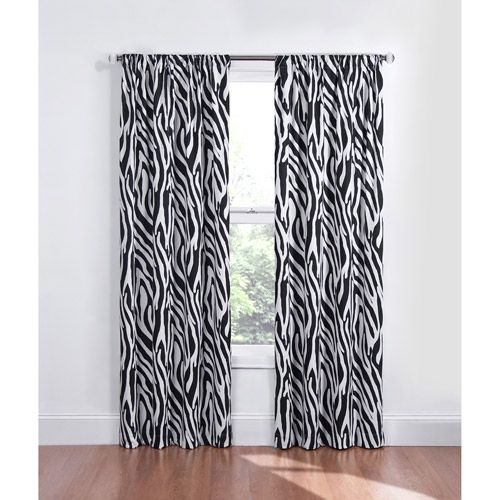 Zebra curtains on pinterest zebra bedroom decorations for Zebra print and red bathroom ideas