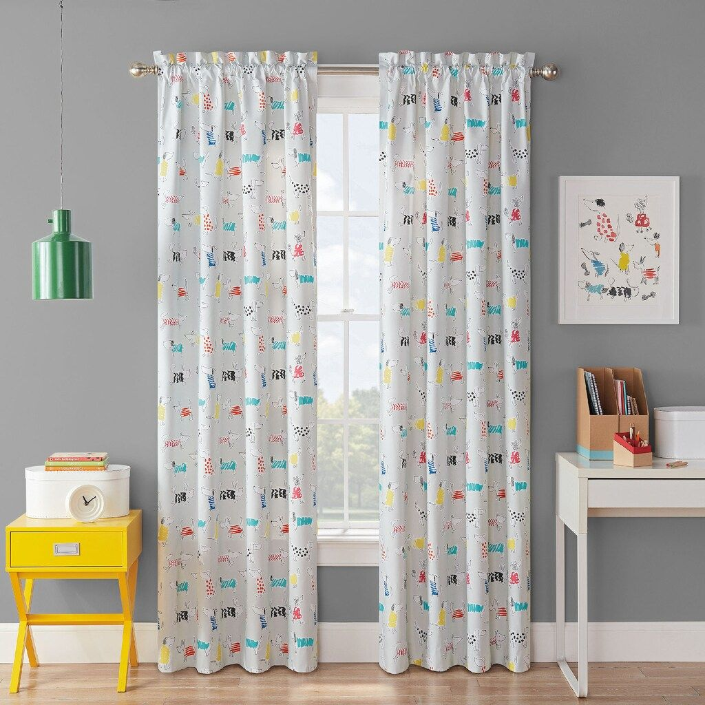 Waverly Kids Adogable Blackout Window Curtain 42x63 Panel