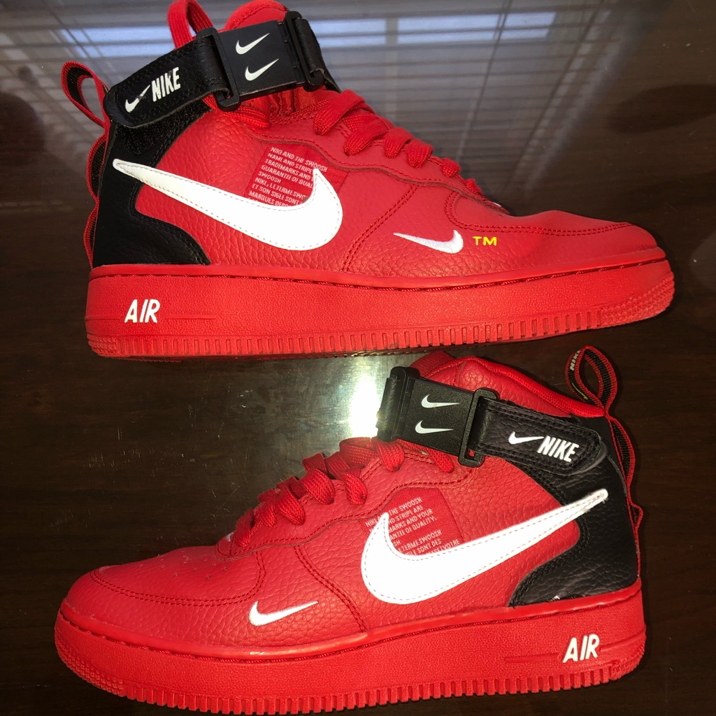 Nike Shoes | Air Force 1 Mid Utility University Red (Gs