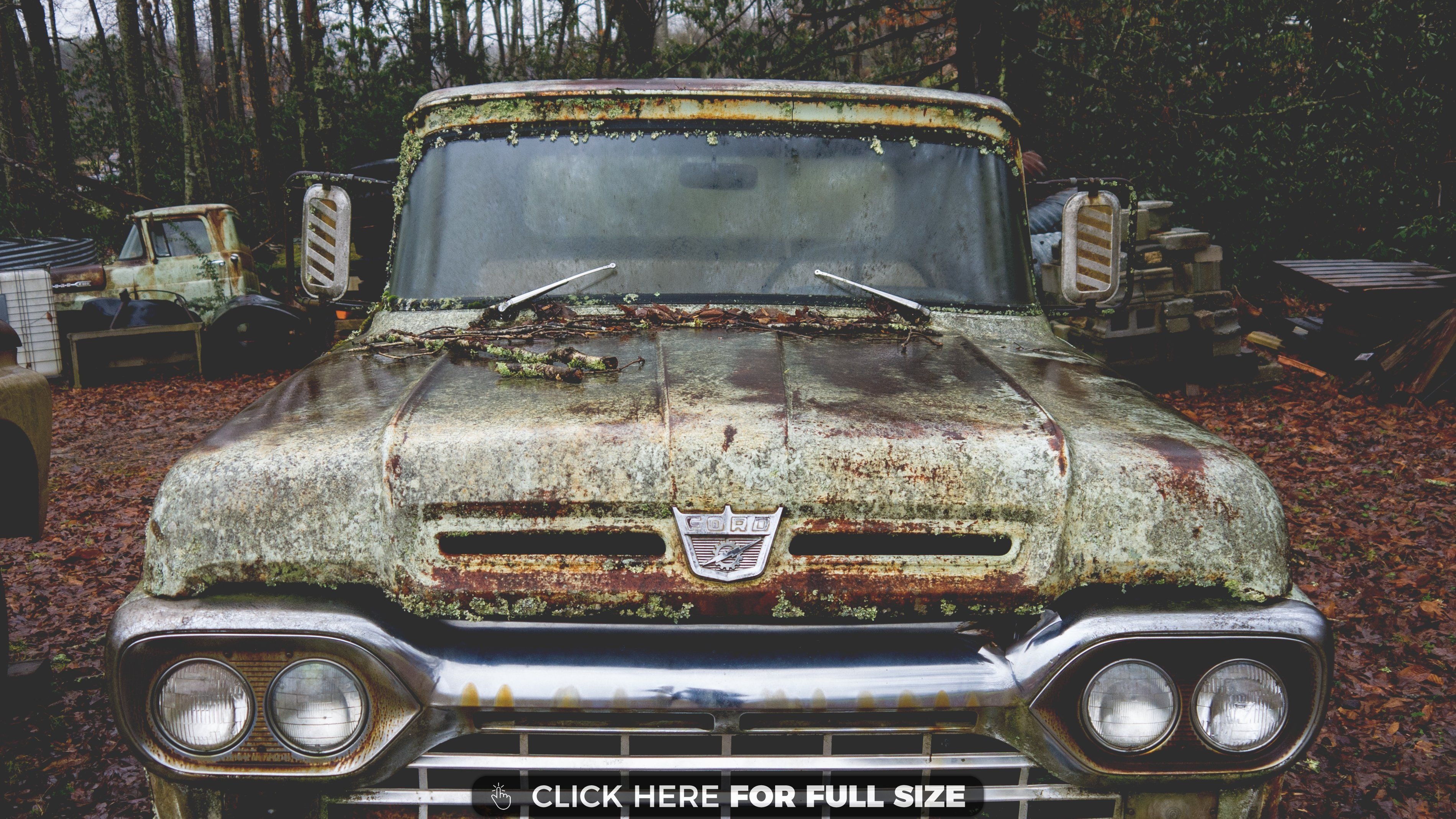 Old Abandoned Ford Truck Wallpaper With Images Ford Truck