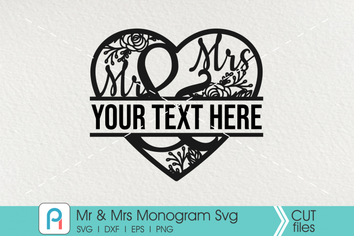 Download Mr And Mrs Svg Mr And Mrs Monogram Svg Mr And Mrs Vector Monogram Svg Monogram Svg