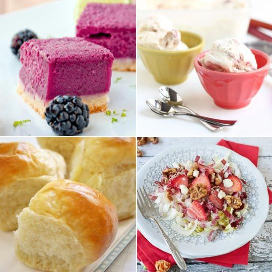 Delicious Links - Blackberry Lime Bars, Rhubarb Ice Cream, Pull-Apart Yeast Rolls, Endive and Strawberry Salad