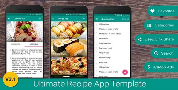 Ultimate recipe app template by neurondigital a feature rich android ultimate recipe app template by neurondigital a feature rich android recipe app template for food lovers forumfinder Gallery