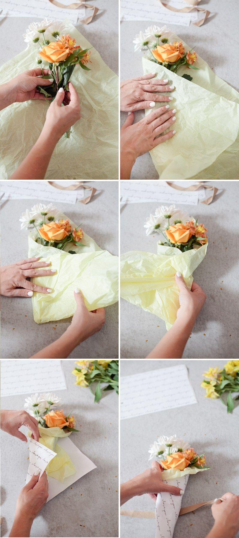 DIY Mini Floral Bouquet Flower bouquet diy, Gift bouquet