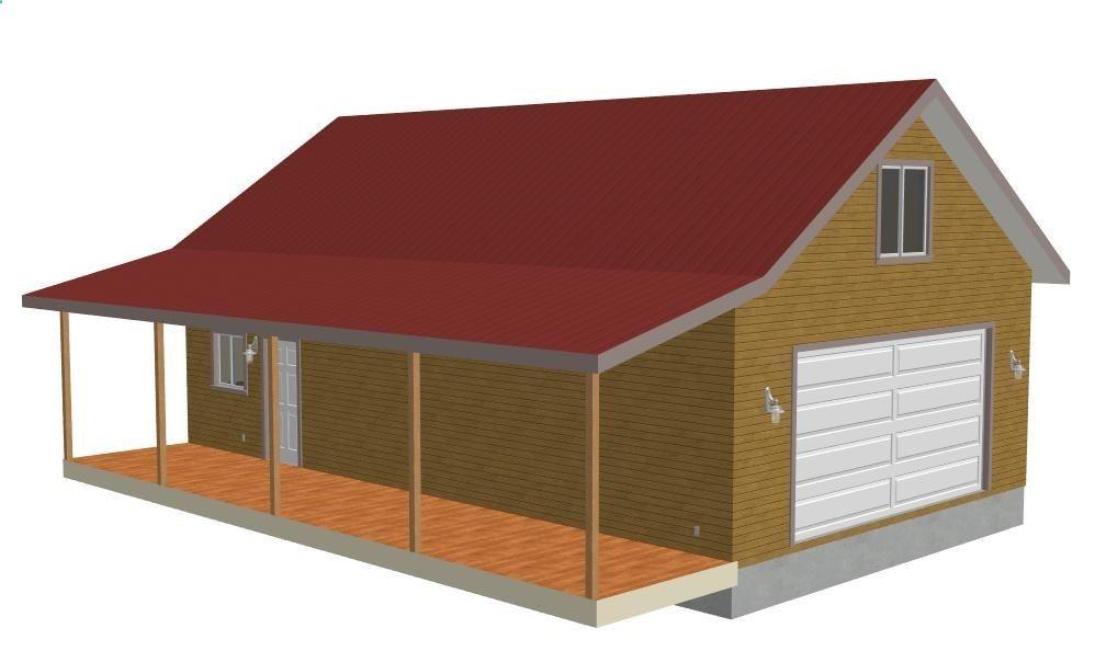 detached garage ideas 28 24 X 40 X 9 detached garage with - construction toilette seche exterieur