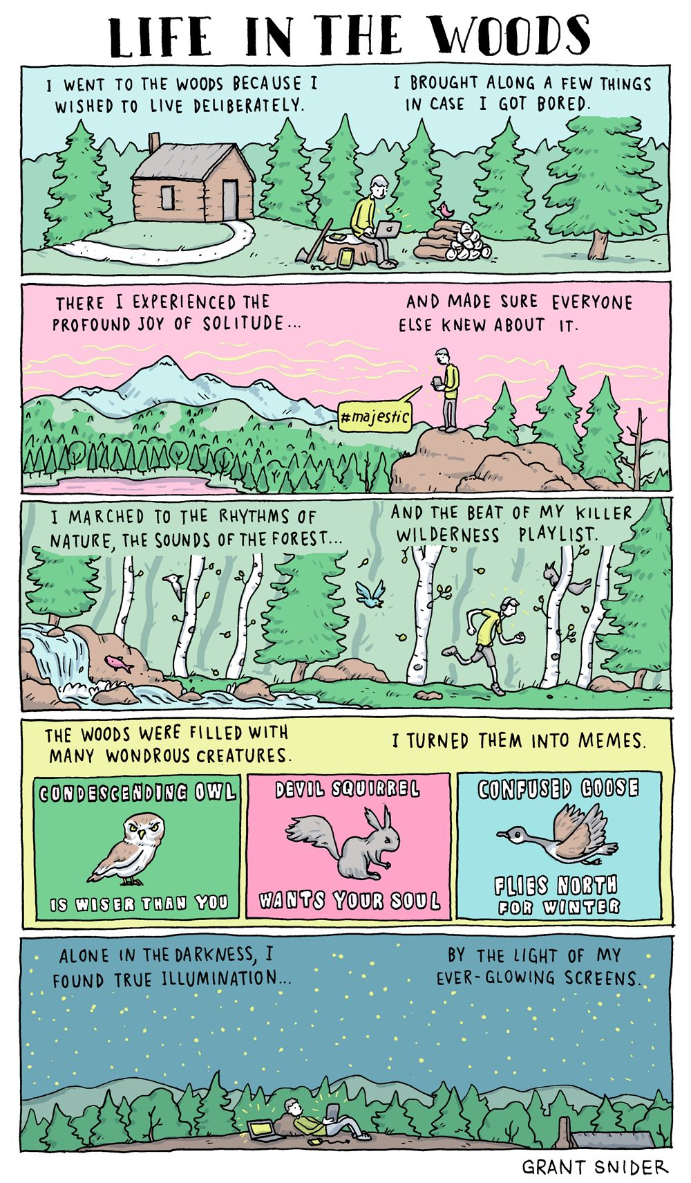 Experiencing the Great Outdoors in the Digital Age [COMIC] #thegreatoutdoors