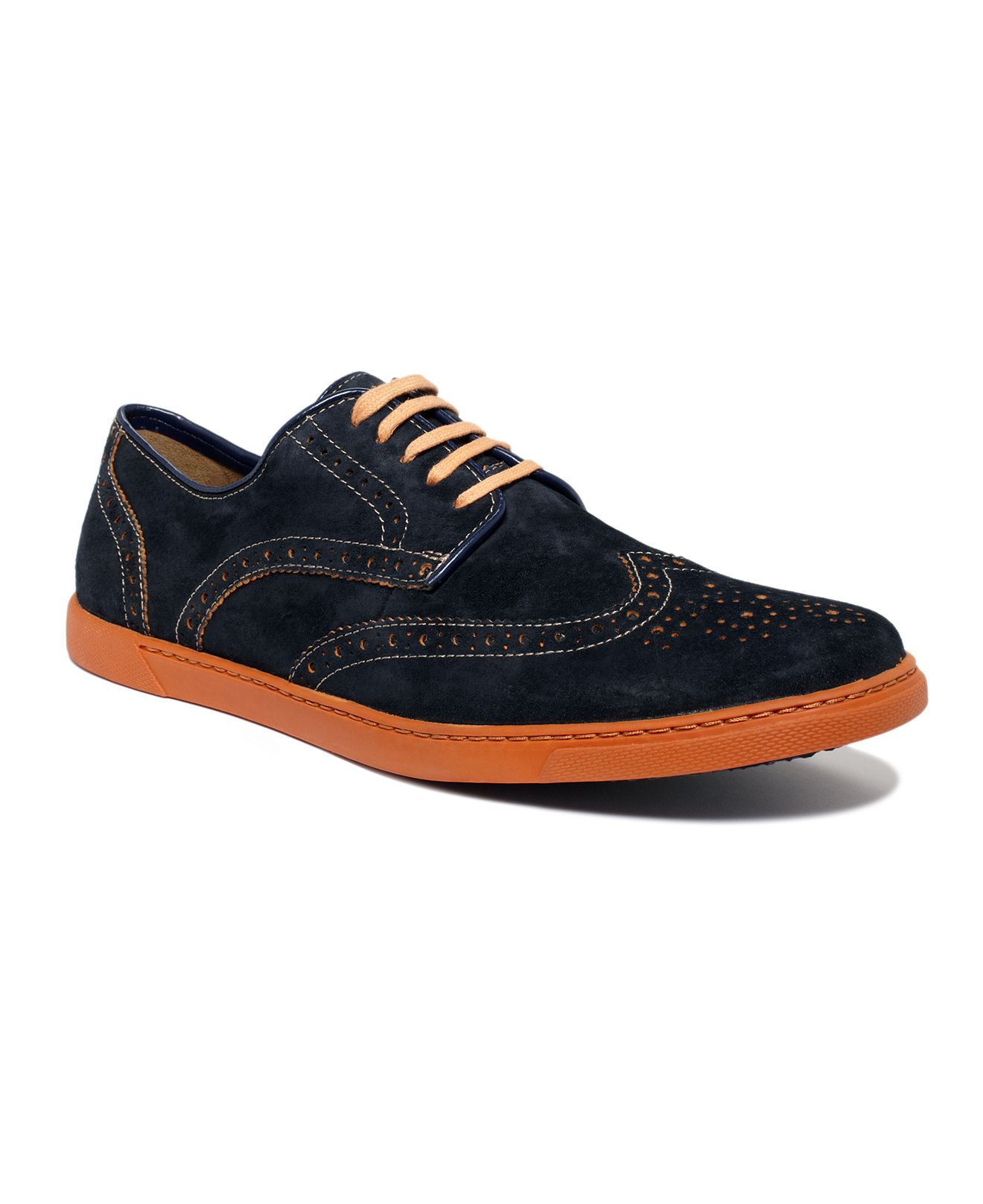 Hush Puppies Shoes, Carver Wing Tip LaceUp Shoes Mens