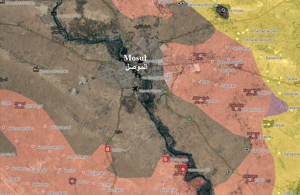 Mosul Situation Map Day4 20 10 2016 Iraq Peshmerga