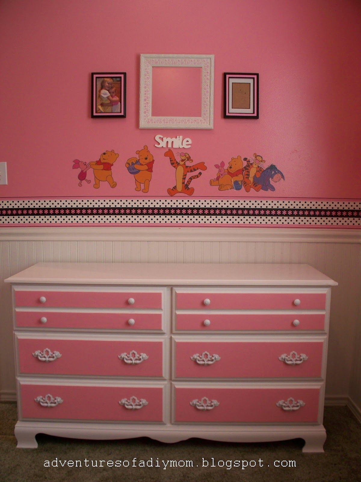 Pink And White Dresser Dresser Makeover Ideas Crate Furniture