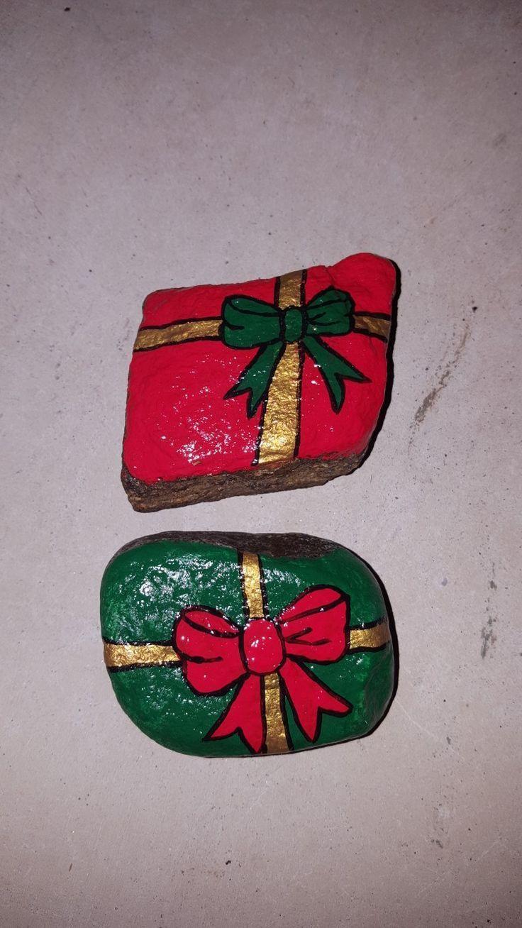 Weihnachtsgeschenke frei handgemalte Felsen #felsen #handgemalte #weihnachtsges #bemaltekieselsteine