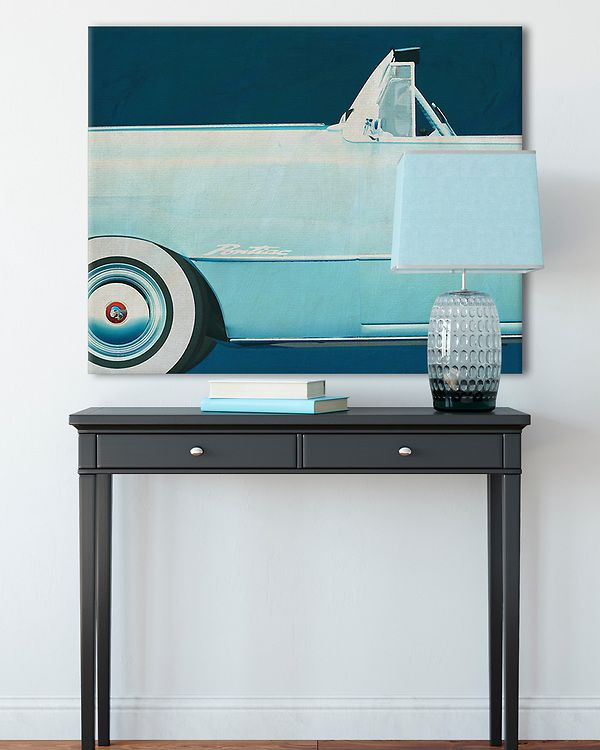 Interior Idea with an Iconic Pontiac Chieftain Convertible 1950 Car on canvas | Fine Art Imagery by