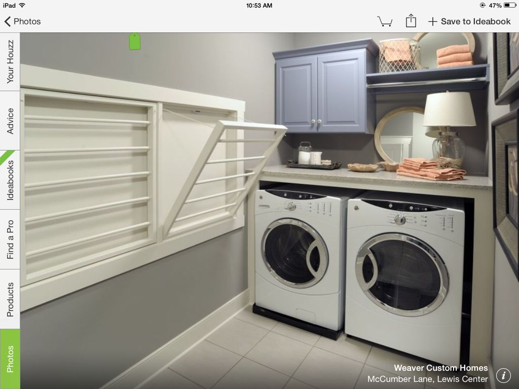 Recessed Drying Racks In Laundry Room Laundry Room Design Laundry Room Inspiration Laundry Room Organization