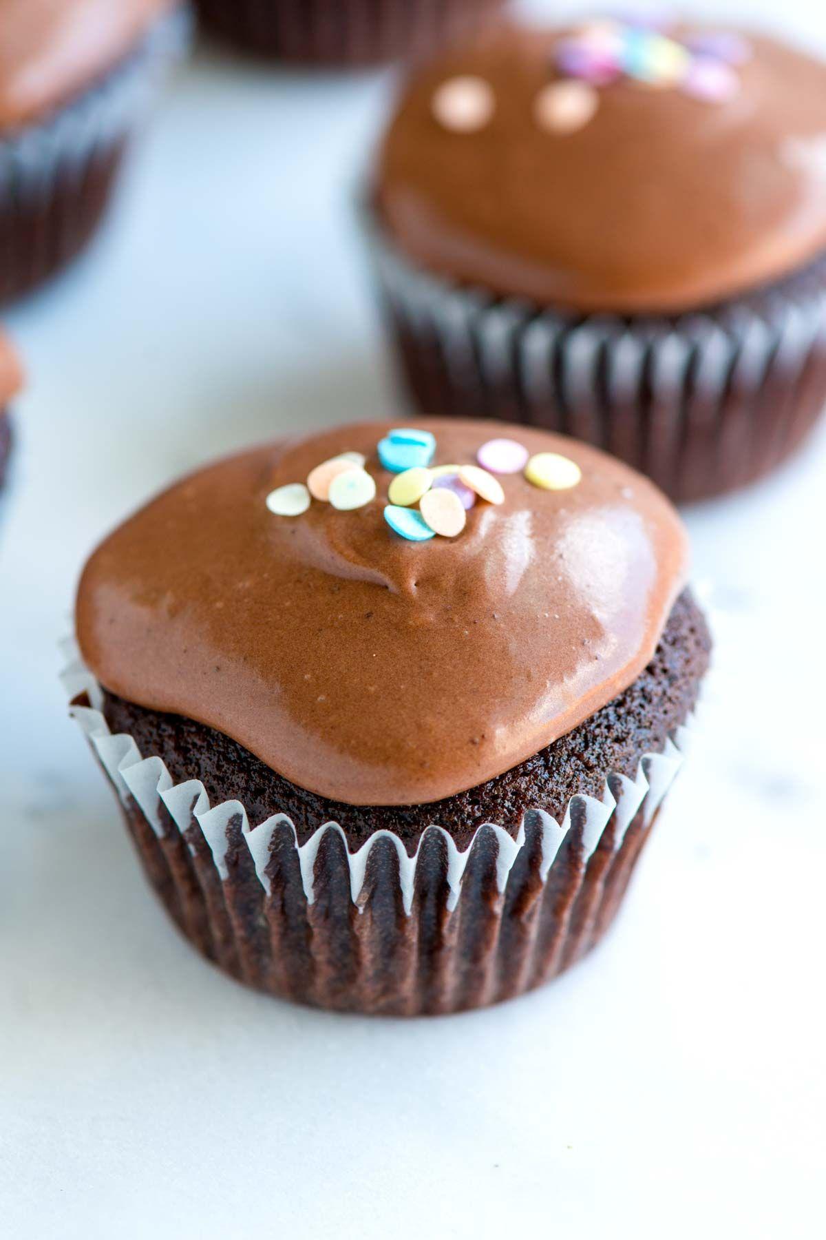 Easy double chocolate sour cream cupcakes recipe cupcake