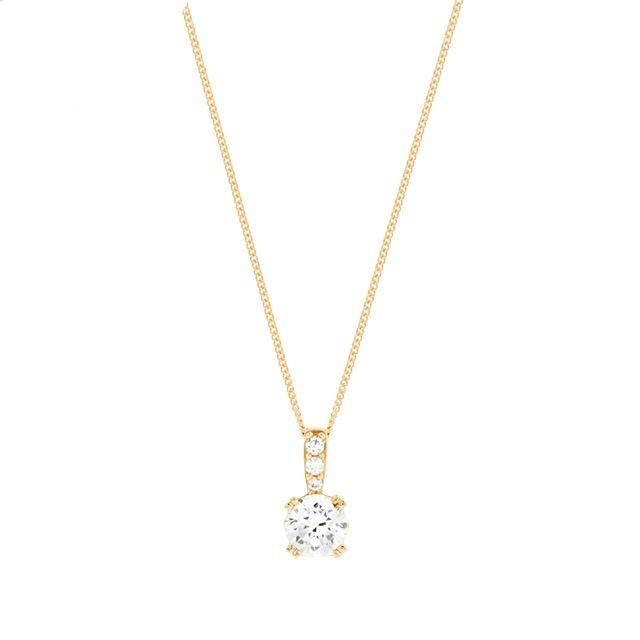 9ct Yellow Gold Cubic Zirconia Pendant | Necklaces | Jewellery | Goldsmiths