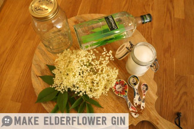 How to make elderflower gin, this recipe is perfect for cocktails on a hot summers day
