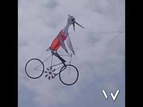 Bicycle Kite Youtube Fun Art Forms Bicycle