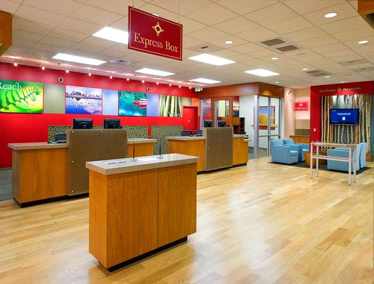 modern bank teller desk design