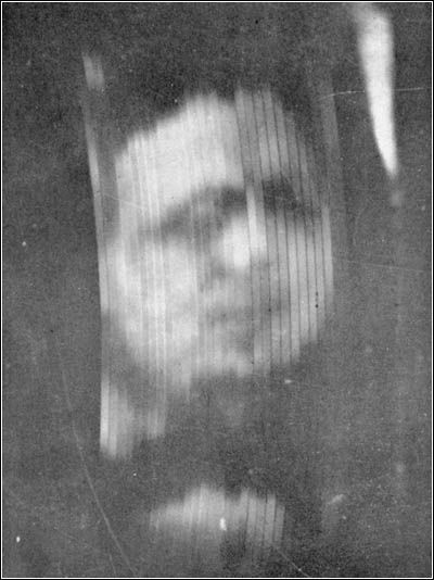 The first ever photo of a broadcasted image. Taken c. 1926 ...