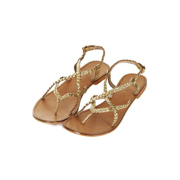 Topshop Harley Plaited Sandals 44 Liked On Polyvore Featuring Shoes Sandals Flats Zapatos Gold Woven Shoes Flat Shoes Sandals Topshop Shoes Leather Flats