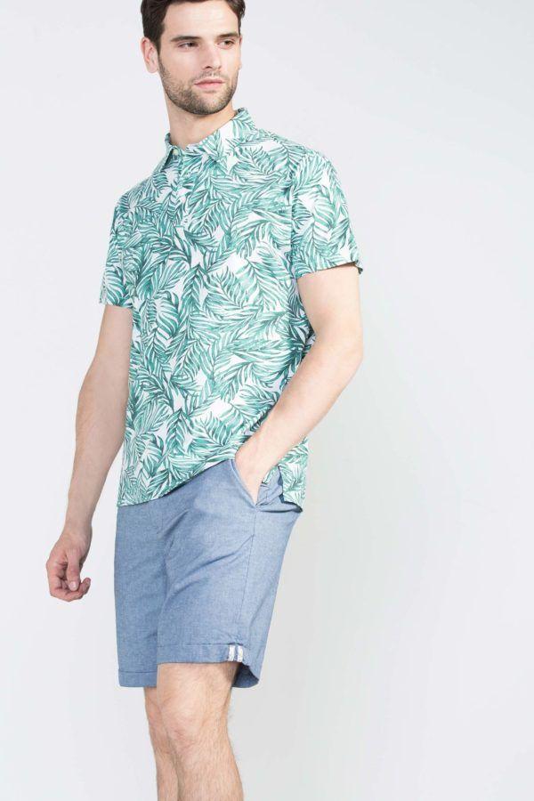 Camisas de vestir para hombre de manga corta 2018 de moda