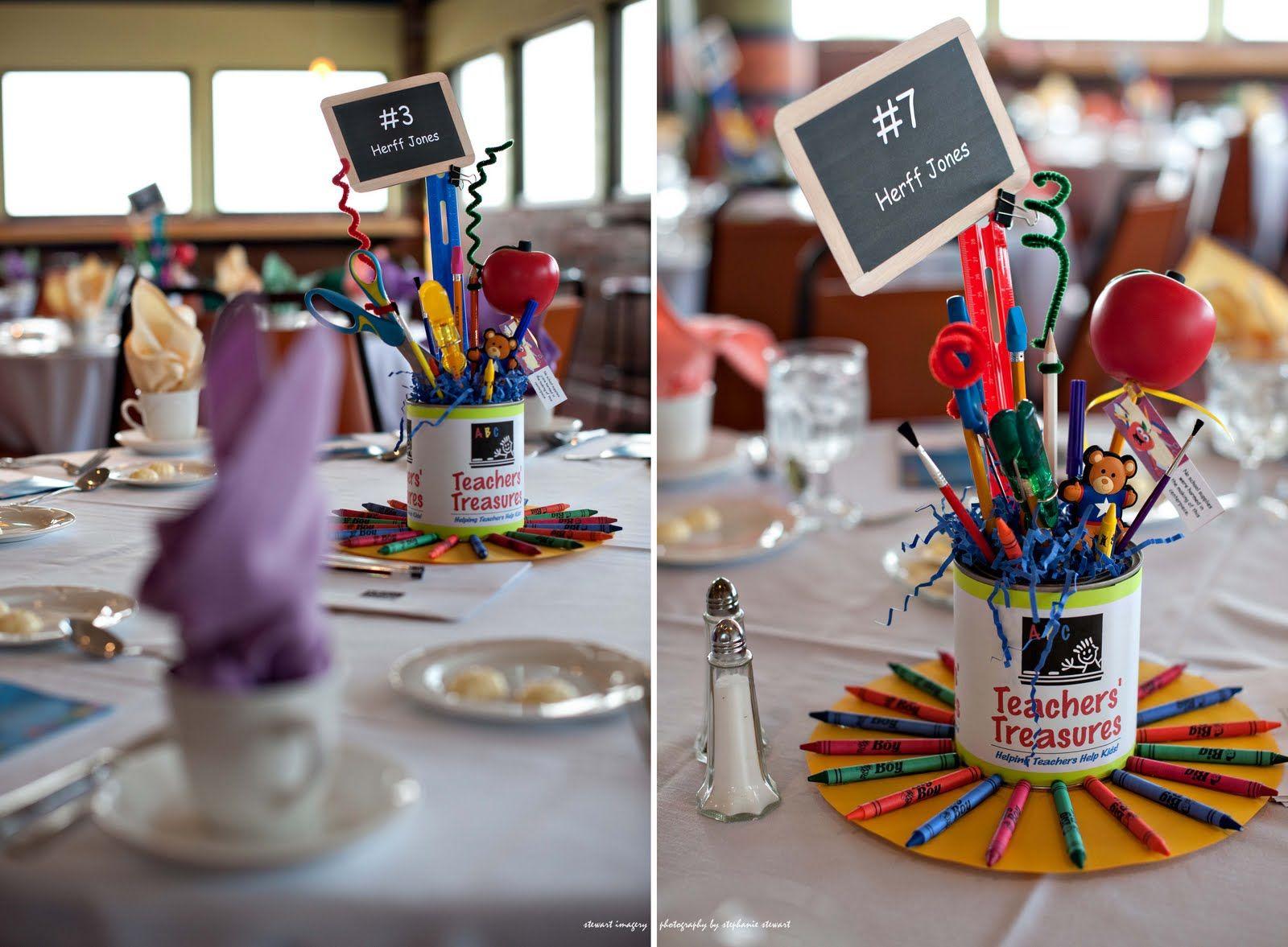 Educational luncheon centerpiece event teachers
