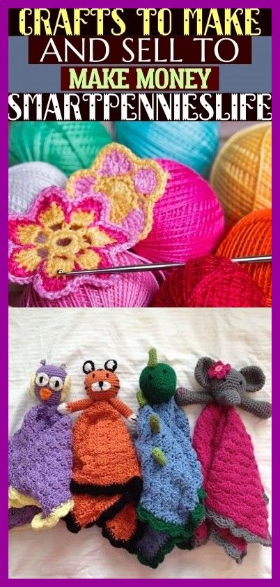 Crafts To Make And Sell To Make Money - Smartpennieslife #crochetformoney