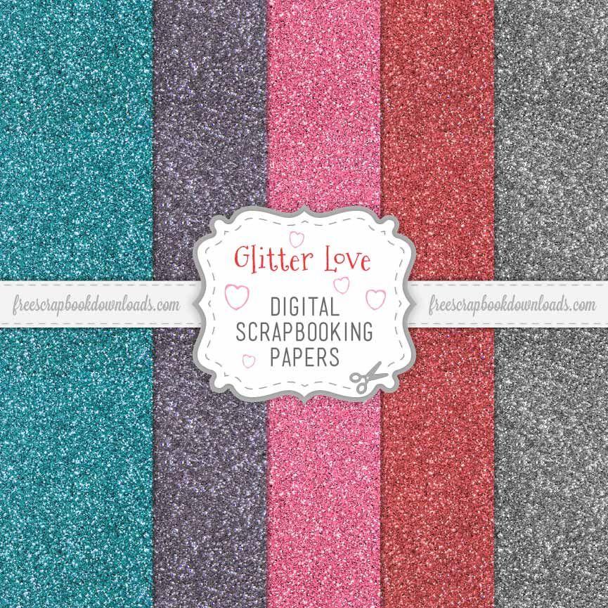 free digital glittered scrapbook paper - Google Search digital