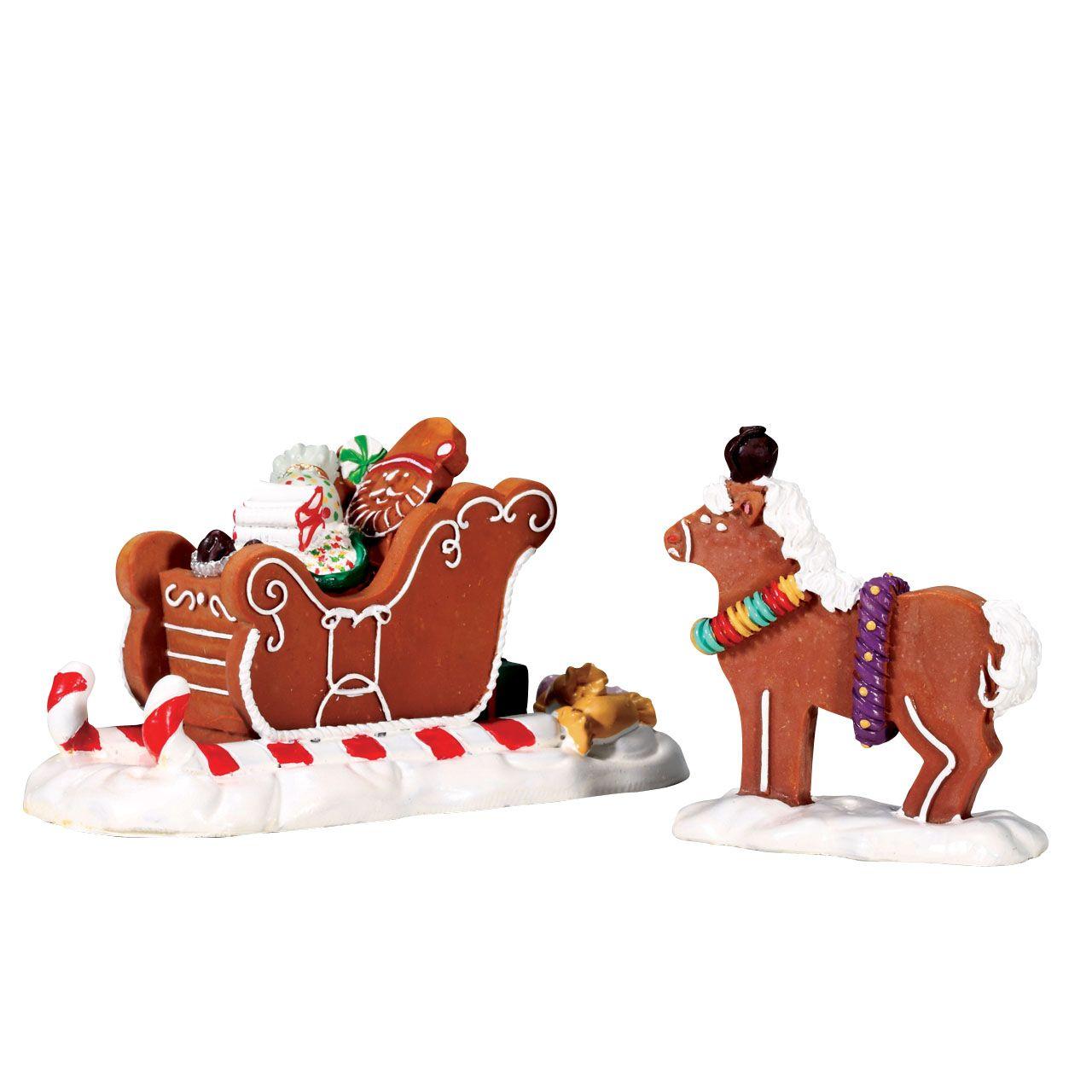 Santa's Sleighride, Set Of 2