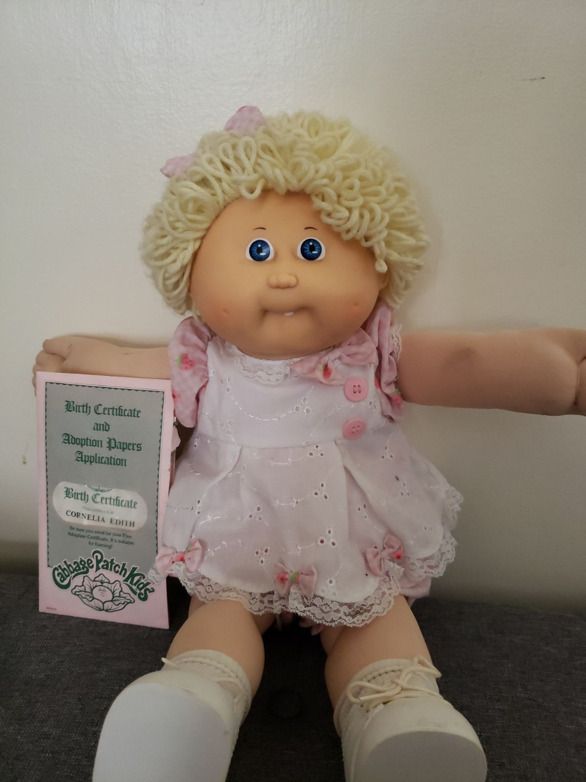Retro 1986 Cabbage Patch Doll Her Name Is Cornelia Edith Have 3 Clean Outfits Papers Shoes Cabbage Patch Dolls Cabbage Patch Kids Dolls Cabbage Patch Kids