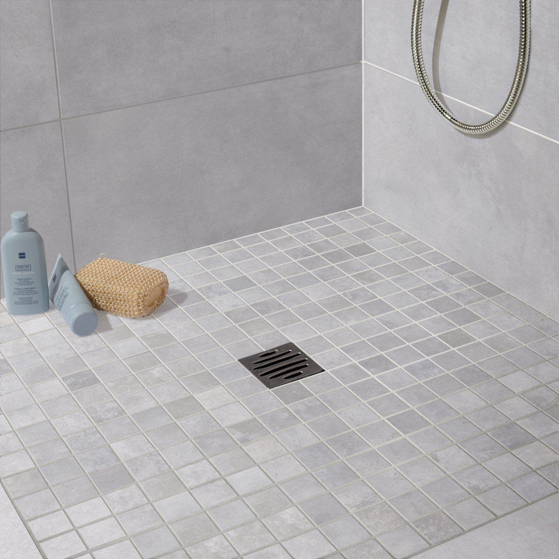 Mosaïque LIVE, gris brume   Leroy Merlin   salle de bain ...