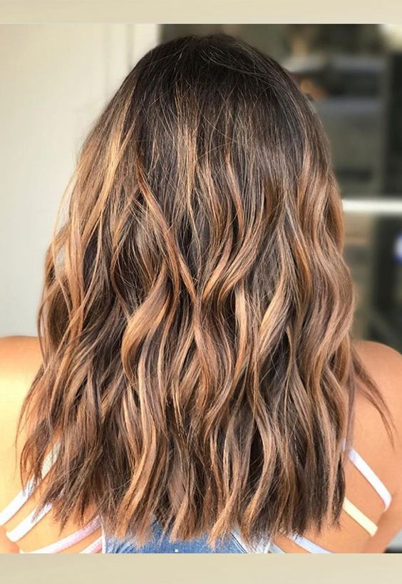 Wonderful Brown Hair Color Along With Golden Blonde Ombre Highlights