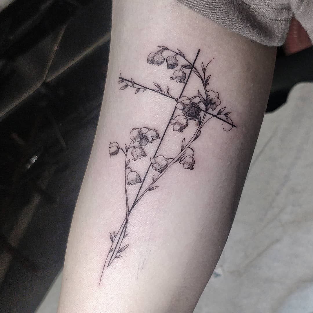 Top 37 Lily of the Valley Tattoo Ideas - [2020 Inspiration