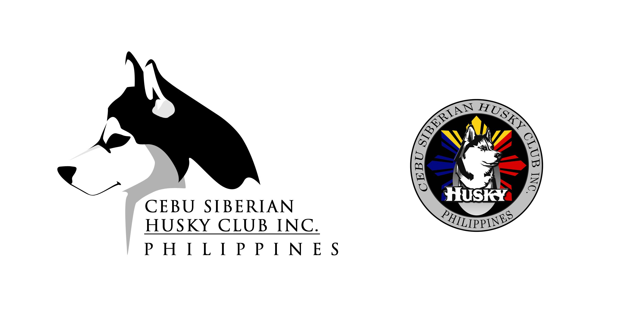 Cebu Siberian Husky Club Inc Logo Right New Proposed Logo Left