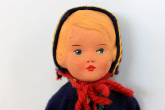 vintage celluloid doll // collectible doll // by umbrellafant, $15.00