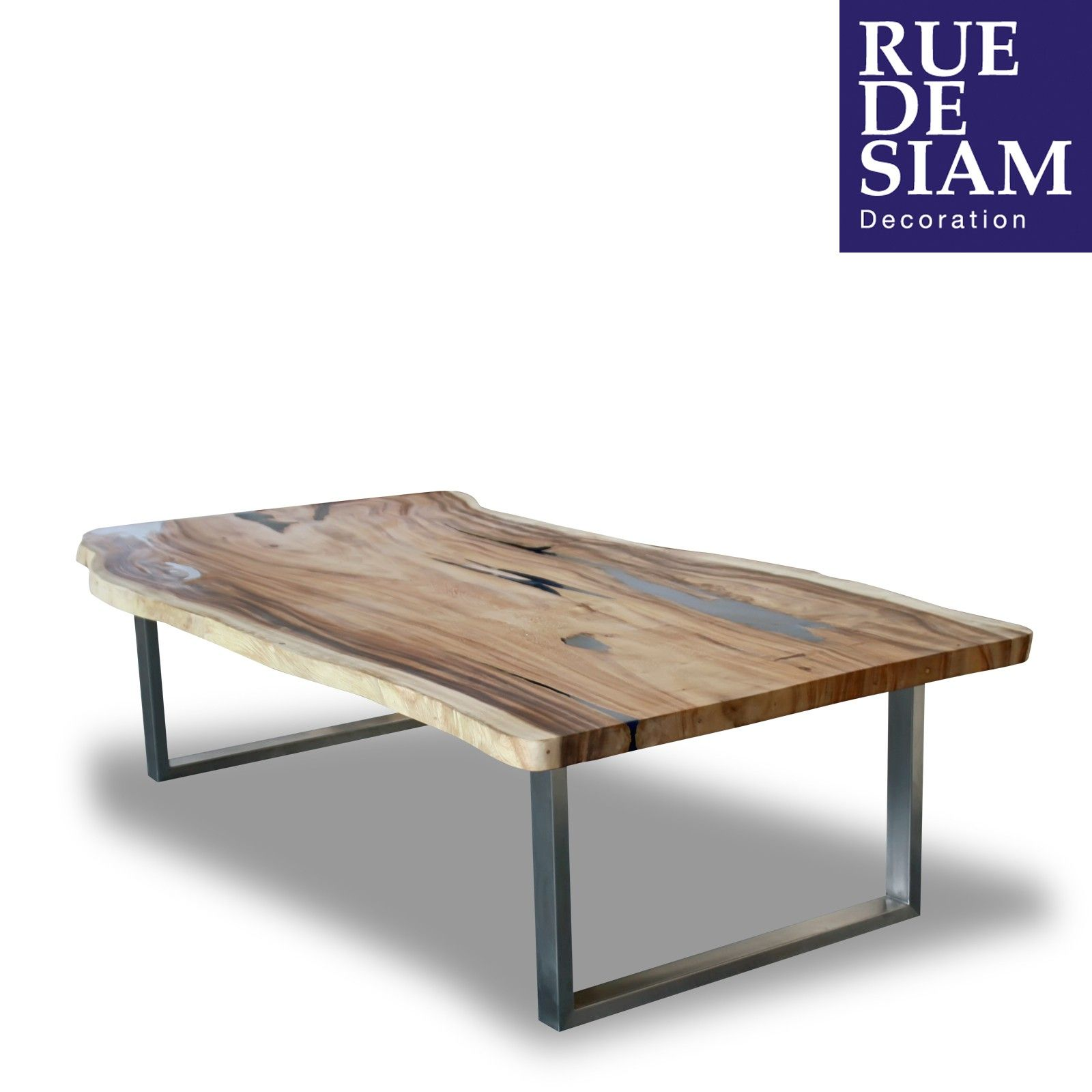 Superbe table basse crystal le plateau est en bois de for Table de salon escamotable