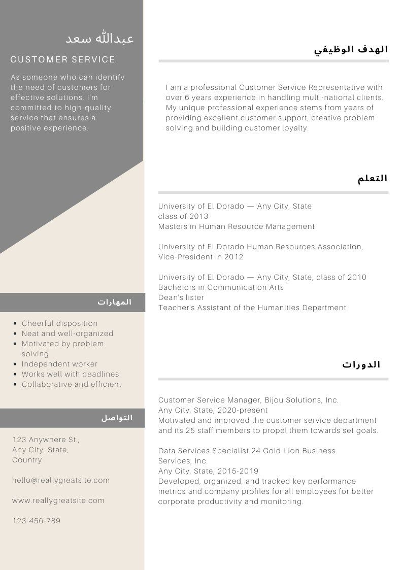 Pin by Ghada* on CV in 2020 Resume templates, Resume