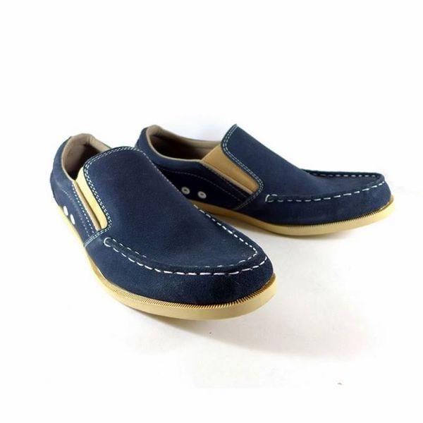 Jual Sepatu Slipon Kulit Suede Asli Birunavy Harga Rp 209 000
