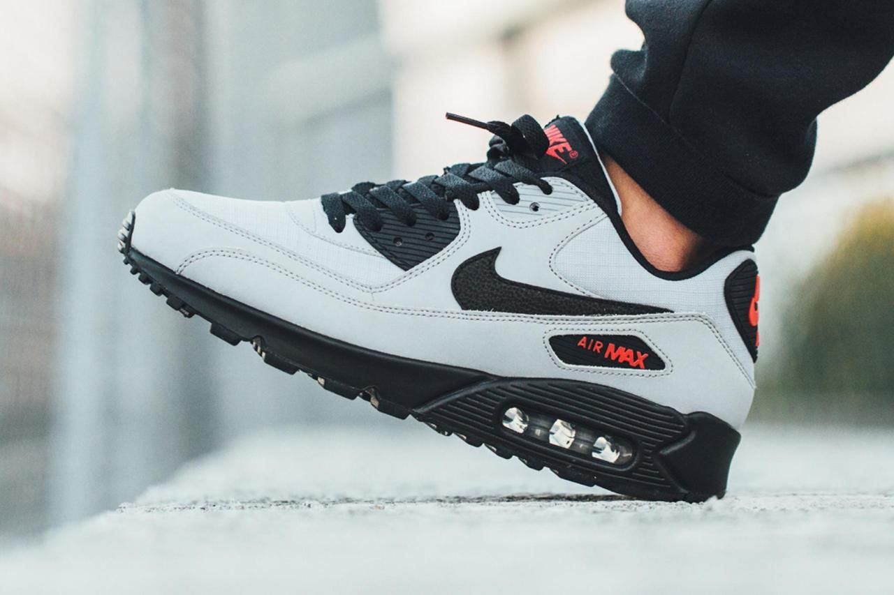 """sweetsoles: """" Nike Air Max 90 Essential Wolf GreyBlack"""